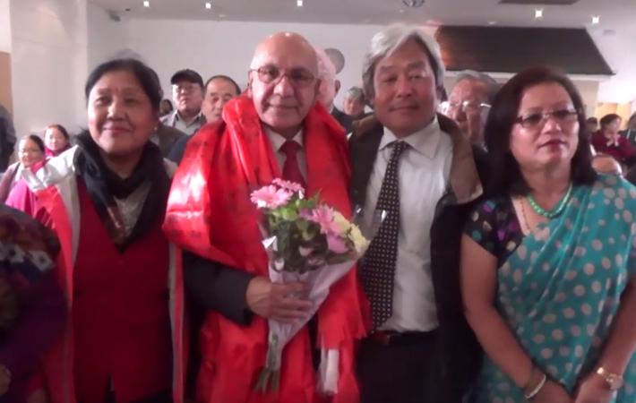 नव नियुक्त अल पार्टी पार्लियमेन्ट तथा नेपाल च्याप्टरका प्रमुख एम पी विरेन्द्र शर्माको सम्मान सगैं गोर्खा सत्याग्रह संयुक्त समिती प्रति उनको प्रतिवद्धता