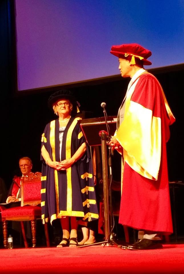 गैरआवासीय नेपाली संघका अध्यक्ष शेष घलेलाई अष्ट्रेलियाको फेडेरेसन विश्वविद्यालयबाट मानार्थ विद्यावारिधी उपाधि प्रदान